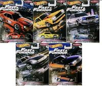 Hot Wheels Premium Fast & Furious Rewind - Complete Set of 5 - Mint Condition