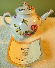 "3.5"" Victoria & Albert Teapot Collection Bow Floral Franklin Mint 1985"