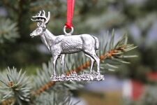 Hastings Pewter Co Lead Free Pewter White Tail Deer Ornament decoration gift New