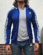 VINTAGE con 90 S Slim Fit Blu Adidas tuta giacca Giacca a Vento S