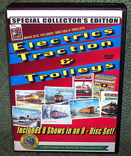 "20238 TRAIN VIDEO DVD BOX SET ""ELECTRICs, TRACTION & TROLLEY"""