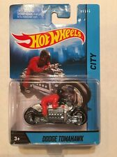 Hot Wheels Dodge Tomahawk City Motorcycle w/ Rider Chrome 1:64 Scale 2013