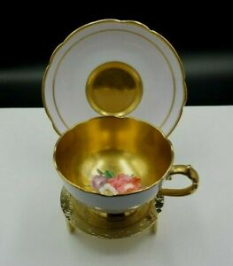 "Paragon Demitasse Cup & Saucer ""By Appointment to HM Queen Mary"" Lilac & Gold"