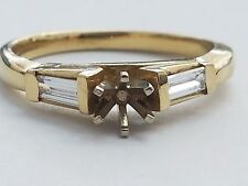 14 KARAT YELLOW GOLD DIAMOND ENGAGEMENT RING SETTING, SIZE 7.5