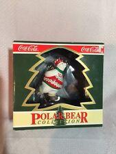 Coca-Cola Polar Bear Collection Skating Polar Bear Ornament New