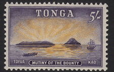 TONGA: 1953 5/- orange-yellow and slate-violet SG112 mint