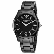 *BRAND NEW* Armani Emporio Men's Black Ceramic Black Dial Watch AR1440