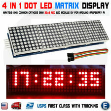 Arduino matrix RED led display module max7219 5p line 8x32 4 in 1 Raspberry pi