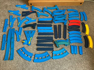 60+ Pieces TOMY Train Trackmaster Thomas And Friends Blue Track Bundle - No 2