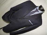 D-J0419 Joseph Abboud Men's 3 button Blue suit 40 R pants 32X30