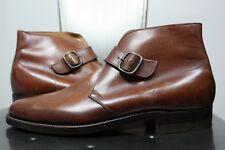 vintage Florsheim monk strap shoes 7.5 D ankle boots new brown 60's