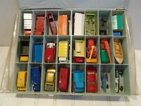 Matchbox Regular Wheels 1960s Lesney Lot of 24 Cars In Case Vintage