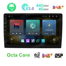 "10.1"" Android 10 Car Stereo Double Din 64GB+4GB RAM GPS WiFi HeadUnit DSP 4G LTE"