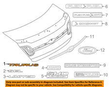 FORD OEM 10-18 Taurus Trunk Lid-Emblem Badge Nameplate AG1Z5442528A