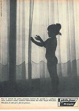 PUBLICITE ADVERTISING 045  1965  PLEIN  JOUR   rideaux voilages  TERGAL