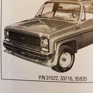 73-87 Chevrolet Pickup SHOWCARS 3 Piece Front Spoiler
