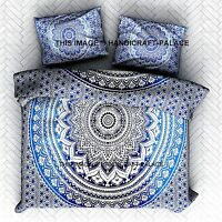 Indian Cotton Mandala King Bed Set Quilt Duvet Cover Blanket Doona Cover Pillow