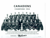 1953 CHAMPIONS MONTREAL CANADIENS 8X10 TEAM PHOTO HOCKEY NHL STANLEY CANADA
