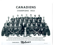 1953 CHAMPIONS MONTREAL CANADIENS 8X10 TEAM PHOTO HOCKEY NHL STANLEY CANADA