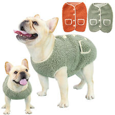 Pet Dog Puppy Cat Warm Fleece Vest Clothes Coat Shirt Sweater Winter Apparel Us