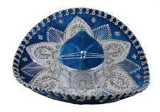 Youth Mexican Mariachi Hat Sombrero Charro Cinco de Mayo Blue Silver