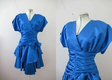 80s Cobalt Blue Prom Dress Small  Buy 3 + items for FREE POSTAGE