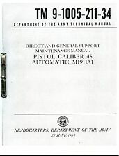 Tech Manual COPY TM9-1005-211-34  45cal M1911A1 + CD Detail info on Maintenance