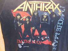 Vintage ANTHRAX Concert Shirt 1987 True Original T-Shirt LG Band Shirt
