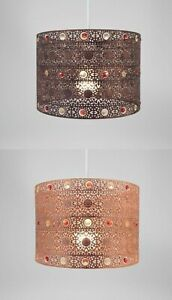 Easy Fit Sparkly Ceiling Pendant Light Shade Antique And Metal Gem Shades New