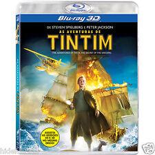 Blu-ray 3D The Adventures of Tintin TinTim - The Secret of the Unicorn