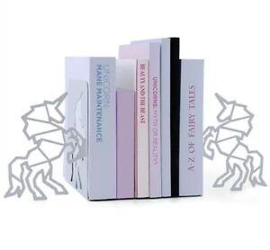 BNIB NEW Mustard Brand Unicorn Bookends In White Great Gift