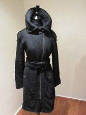 Kenneth Cole Reaction Black Wool Blend Belted Coat Size 6
