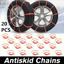 20Stk 90mm Auto Lkw Anti-skid Nylon Ketten für Schnee Schlamm Rad Reifen Kabel