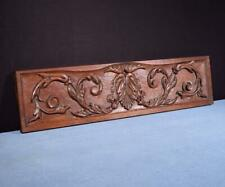"*28"" French Vintage Hand Carved Architectural Panel Solid Oak Wood Trim"