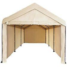 Canopy Garage Tent 10x20 Carport Car Shelter Big Portable Cover Enclosure Tan