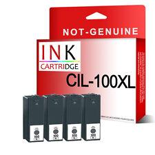 4 Black Ink For Lexmark 100 XL Pro 205 705 805 905