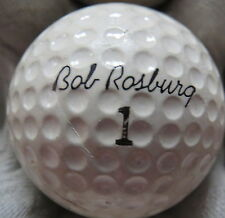 (1) BOB ROSBURG SIGNATURE LOGO GOLF BALL ( SEAMLESS MADE IN USA CIR 1969) #1