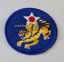 WW2 US FLYING TIGERS AIR FORCE EMBROIDERED INSIGNIA PATCH -32058