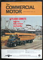 COMMERCIAL MOTOR MAGAZINE 27 AUG 1965 - LEYLAND COMETS, FORD D300 ROAD TEST