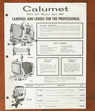 CALUMET PRICE LIST FOR 4/67, ILLUSTRATED/69489
