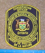 ONTARIO MNR   CONSERVATION OFFICER PATCH,L+F,enforcement,police,hunting,fishing