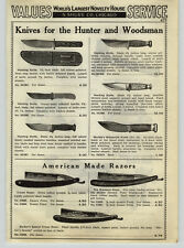 1936 PAPER AD Marble's Woodcraft Hunting Knife Crown Barber Straight Razor