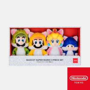 Super Mario Luigi Peach Toad Cat Neko Plush Doll Nintendo Tokyo Limited 3D World
