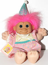"Vntage Late 1980's Troll Kidz Happy Birthday Troll Doll 11"" H"