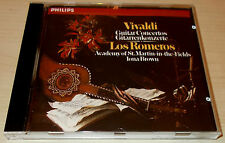 VIVALDI-GUITAR CONCERTOS-CD 1985-LOS ROMEROS/IONA BROWN-FULL SILVER RING-MINT