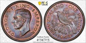 New Zealand 1942 Penny, KM-13, PCGS MS64BN, super nice