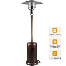 Garden Radiance Outdoor Patio Heater Stainless Steel Propane Standing LP  Bronze