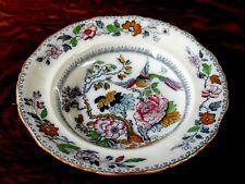 Ashworth Bros Hanley HandPainted English Transferware Large Soup Bowl, c. 1910