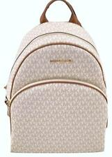 Michael Kors Abbey Signature PVC Vanilla Acorn Large Backpack