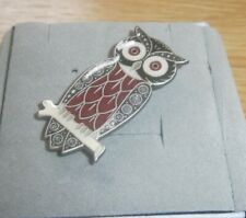 Enamel Owl Brooch by Pia - New & Boxed